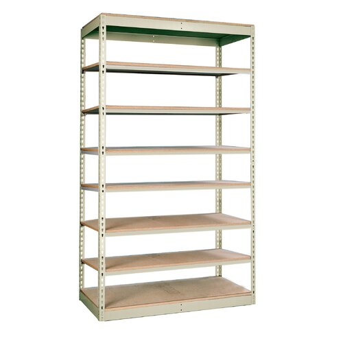 "Hallowell Rivetwell Single Rivet Boltless 84"" H 8 Shelf Shelving Unit Add-on"