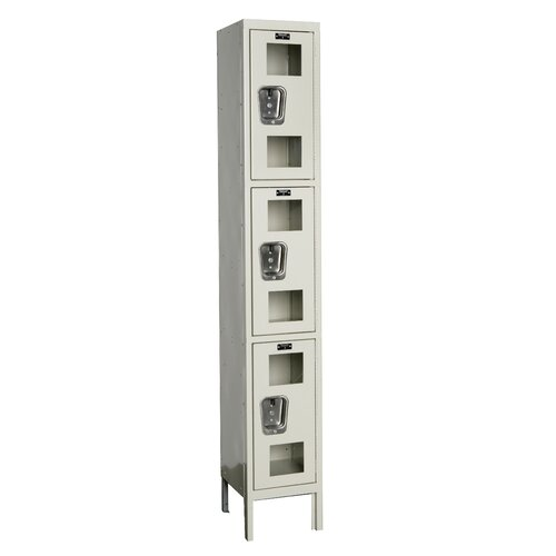 Hallowell Safety-View Locker Triple Tier 1 Wide (Knock-Down) (Quick Ship)