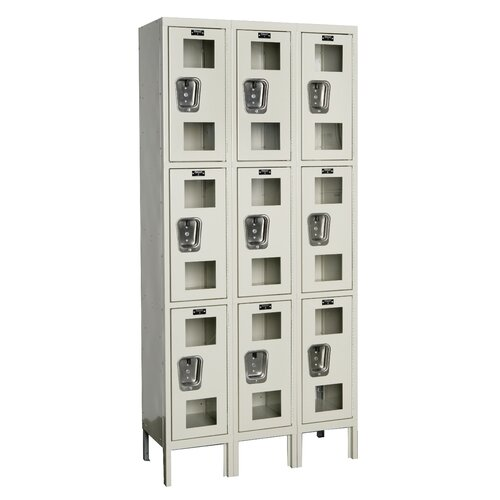 Hallowell Safety-View Locker Triple Tier 3 Wide (Knock-Down) (Quick Ship)