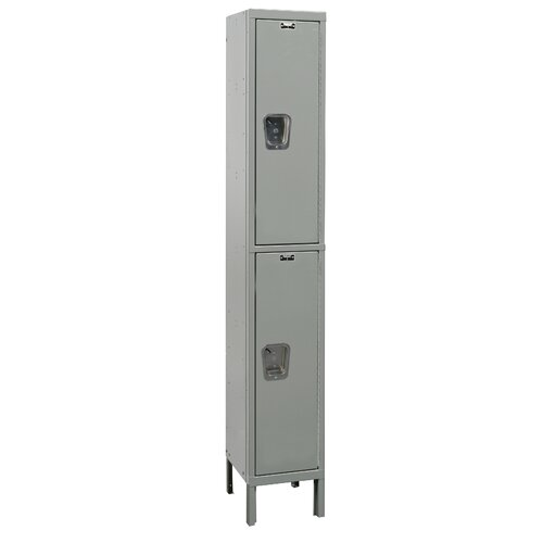 Hallowell Maintenance-Free Quiet Locker Double Tier 1 Wide (Assembled) (Quick Ship)