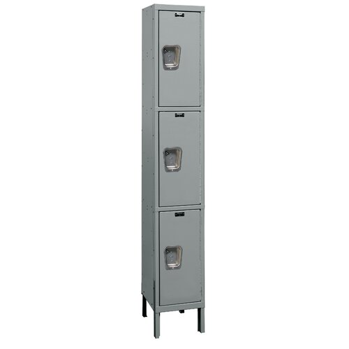 Hallowell Maintenance-Free Quiet Locker Triple Tier 1 Wide (Knock-Down) (Quick Ship)
