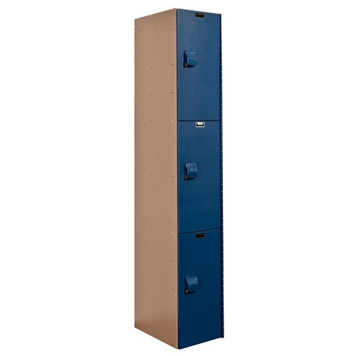Hallowell AquaMax Plastic Locker Triple Tier 1 Wide (Assembled) (Quick Ship)