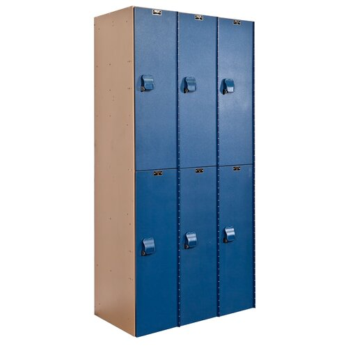 Hallowell AquaMax 2 Tier 3 Wide Contemporary Locker