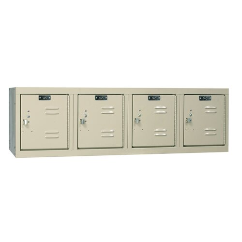Hallowell Premium Stock Lockers - Four-Wide Wall Mount (Assembled) (Quick Ship)