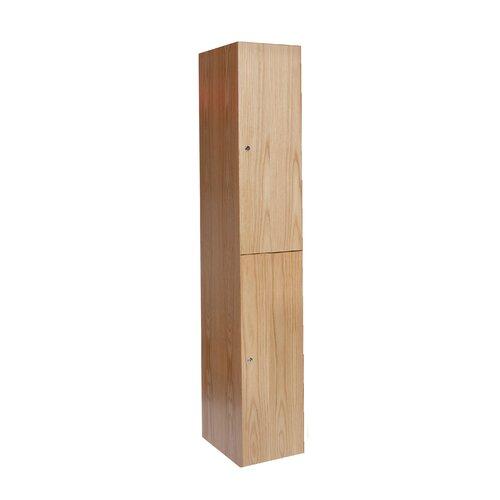 Hallowell All-Wood Club 2 Tier 1 Wide Contemporary Locker