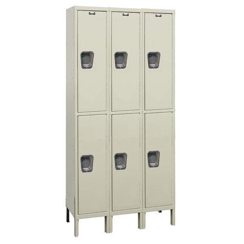 Hallowell Maintenance-Free 2 Tier 3 Wide Quiet Knock-Down Locker