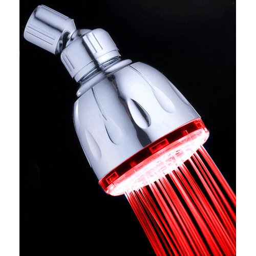 MagicShowerhead 5 Second Color Changing Fixed LED Illuminated Shower Head