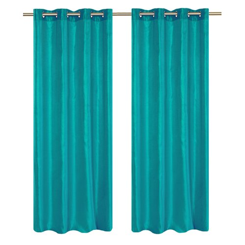 LJ Home Silkana Grommet Curtain Panel