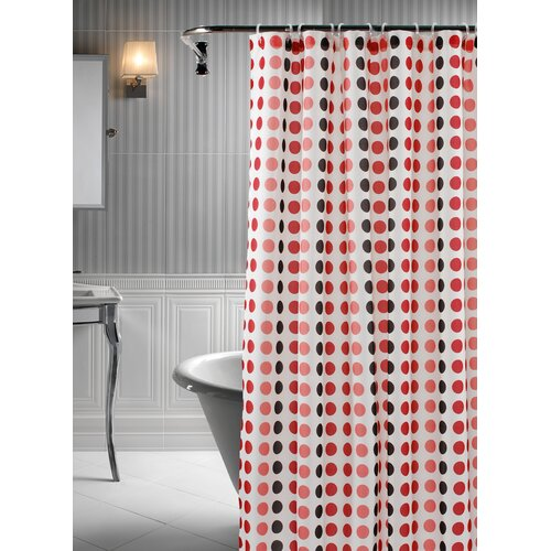 LJ Home Polka 14-Piece Shower Curtain Set