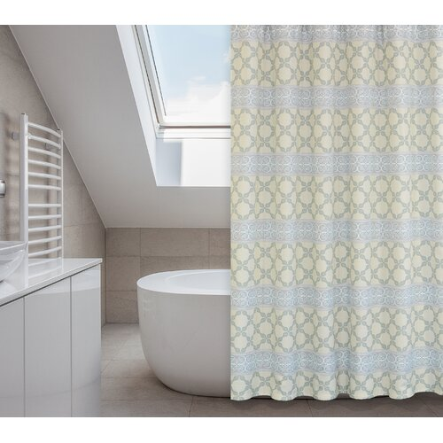 Vogue Polyester 14-Piece Shower Curtain Set