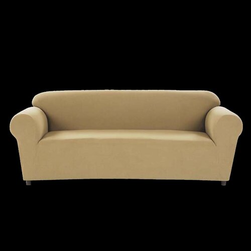 Chamois Stretch Loveseat Slipcover