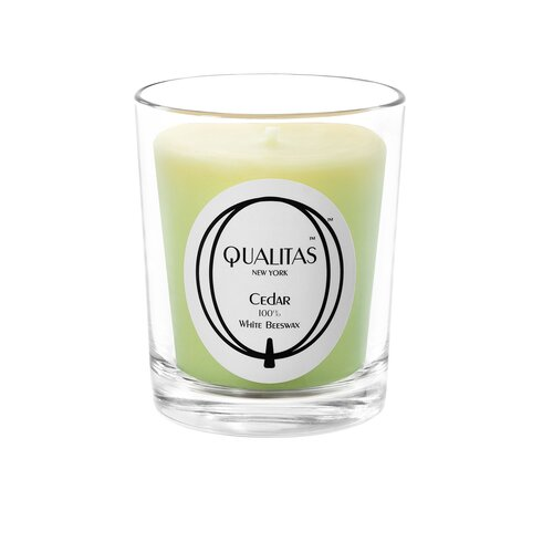 Qualitas Candles Beeswax Cedar Scented Candle