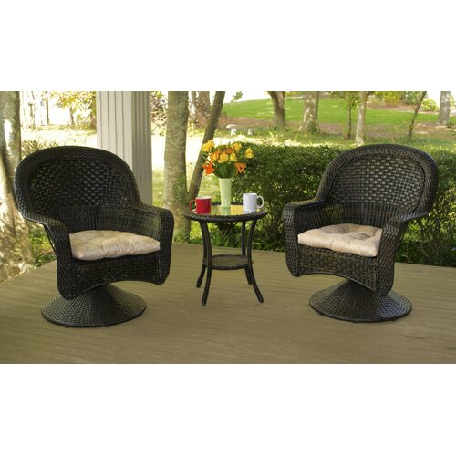 After Dinner 3 Piece Bistro Set with Cushions