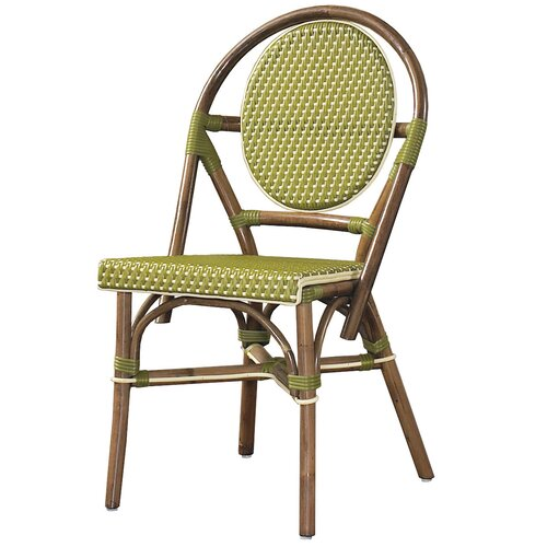 Outdoor Cottage Paris Bistro Fabric Side Chair (Set of 2)