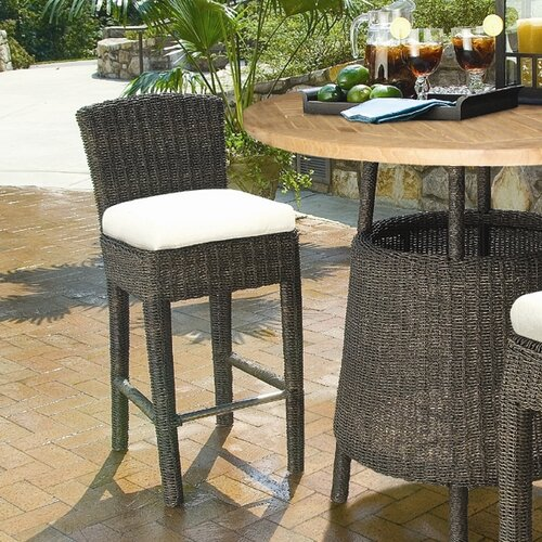 Padmas Plantation Outdoor Bay Harbor  Barstool with Cushion