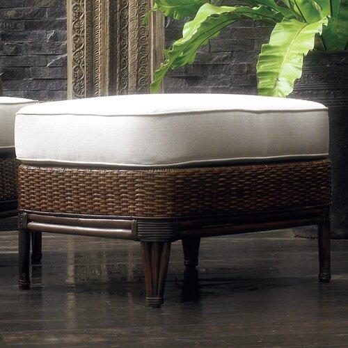 Outdoor Palm Beach Ottoman with Cushion