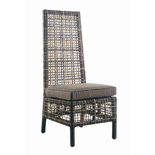 Padmas Plantation Outdoor Emperor Dining Side Chair with Cushion