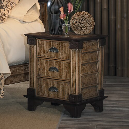 Brown Rattan Nightstand Wayfair
