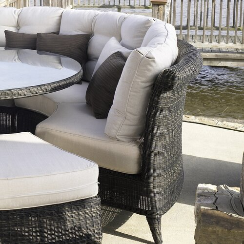 Padmas Plantation Outdoor Gulf Shore Dining Arm Chair with Cushion