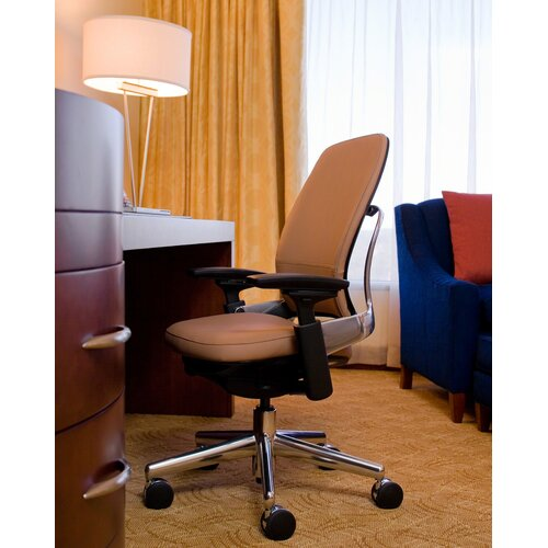 Steelcase Leap® Mid-Back Leather Office Chair