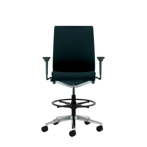 Think Upholstered Height Adjustable Drafting Stool