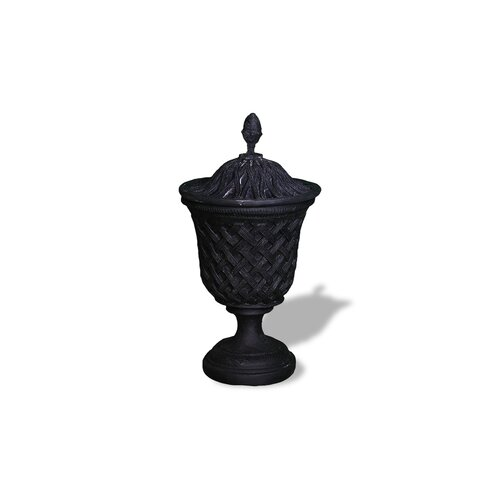 Amedeo Design ResinStone Lattice Urn with Top