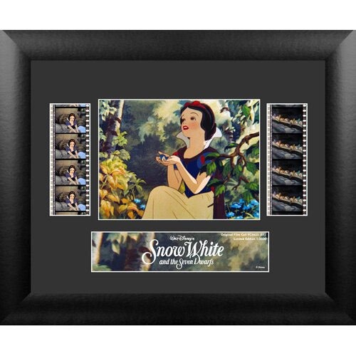 Trend Setters Snow White and the Seven Dwarfs Double FilmCell Presentation Framed Memorabilia