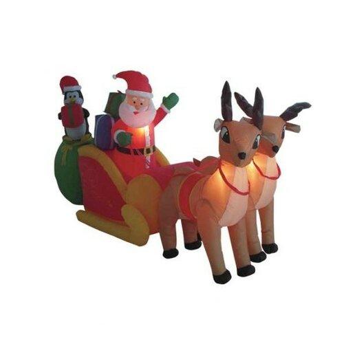 Christmas InflatableSanta Claus Driving Sleigh Decoration