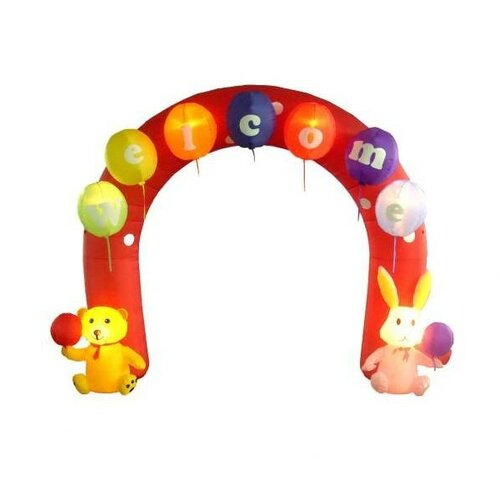 Easter Inflatable Arch with Rabbit and Bear Decoration