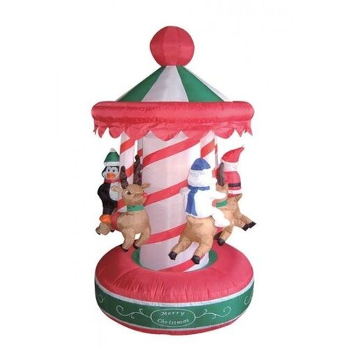 Christmas Inflatable Animated Carousel Decoration