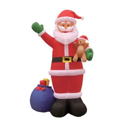 BZB Goods Christmas Inflatable Santa and Gift Bag Decoration