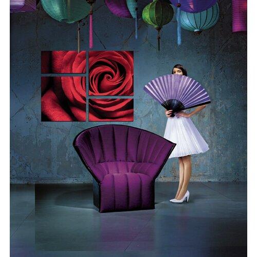 BZB Goods Romantic Rose Modern 4 Piece Photographic Print