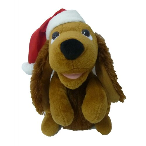 Singing Dog with Christmas Hat Musical Plush Toy with Motion