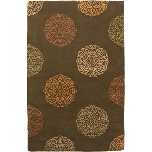 AMER Rugs Mercer Design Brown, Hand-Tufted Rug