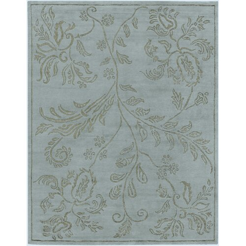 AMER Rugs Marqu Design Ice Blue, Hand-Knotted Rug