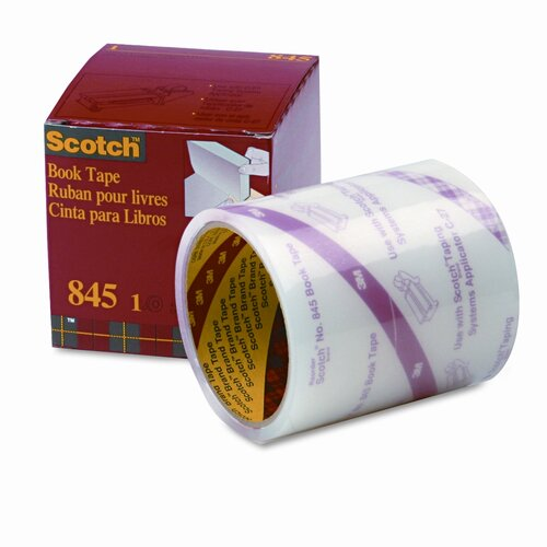 "3M Book Repair Tape, 4"" x 15 Yards, 3"" Core"
