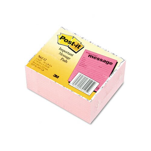 3M Post-It Super Sticky Super Sticky Message Pad, 12 50-Sheets Pads/Pack