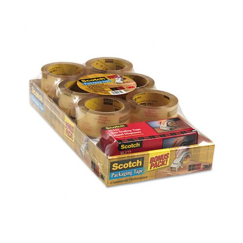 3M Scotch 3750 Commercial Performance Packaging Tape, 12 Pack