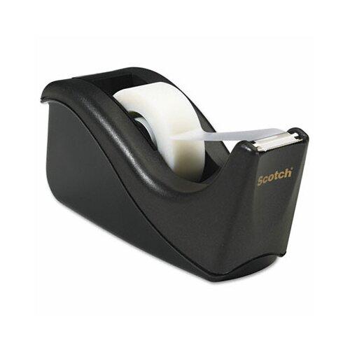 "3M Value Desktop Tape Dispenser, 1"" core, Two-Tone Black"