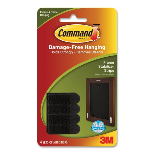 3M Picture Hanging Strips w/Adhes, Stay Straight, 4/PK, WE