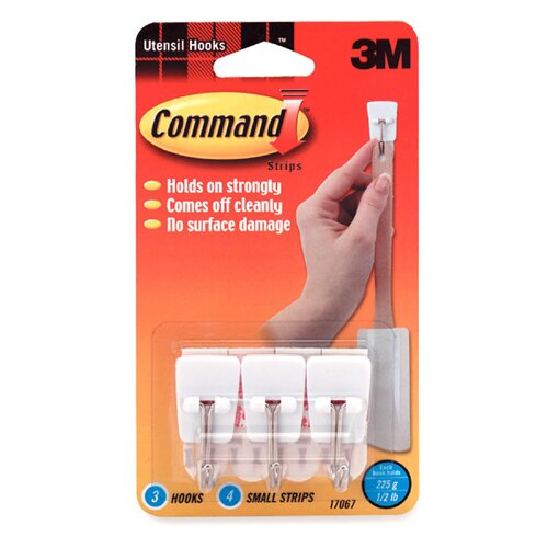 3M Command General Purpose Hooks, Small, 3/Pack