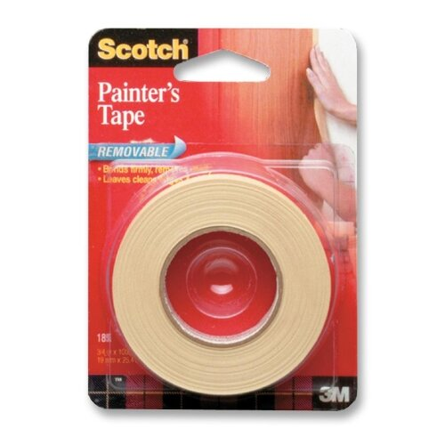"3M Masking Tape, Removable, 3/4""x1000"", Tan"