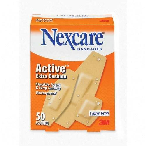 3M Cushion Foam Bandages, Latex-free, Assorted Size, 50 per Pack