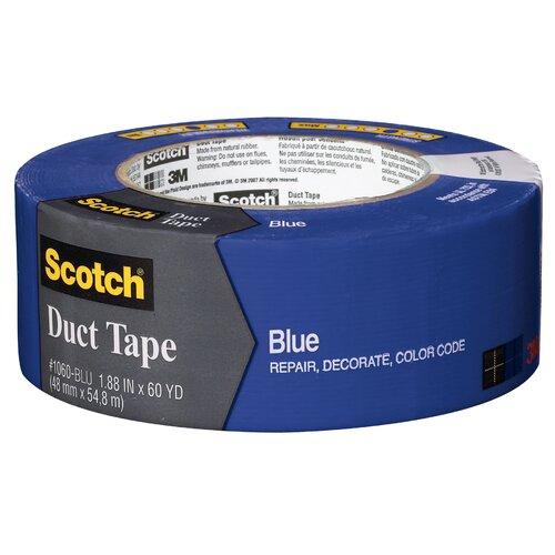 """3M 1.88"""" x 60 Yards Scotch Duct Tape in Blue"""
