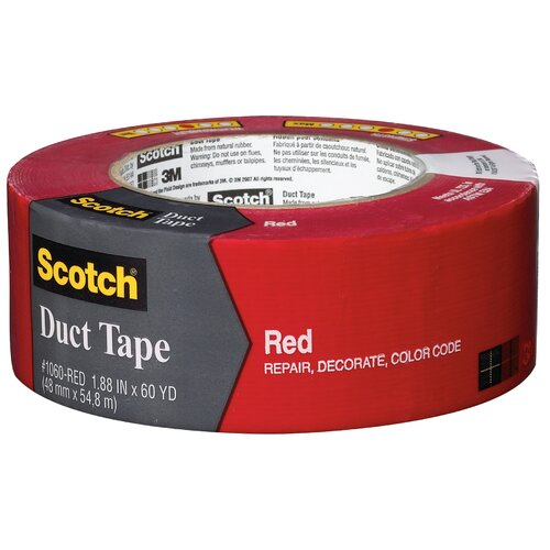 "3M 1.88"" x 60 Yards Scotch Duct Tape in Red"