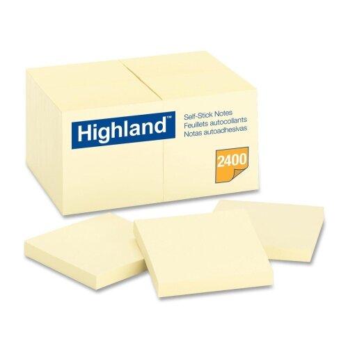 3M Highland Self-Sticking Note Pads (18 Per Pack)