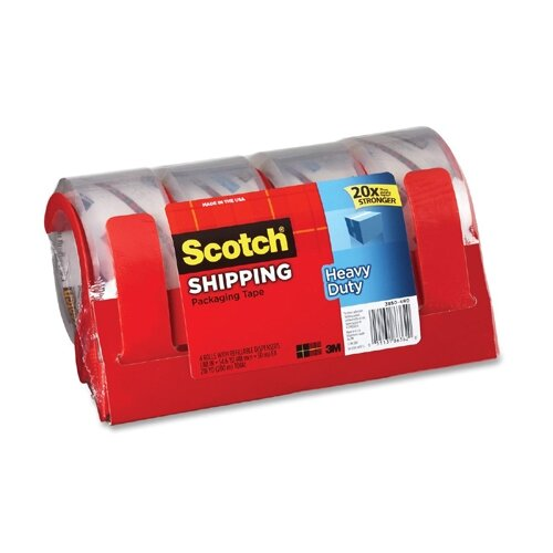 Scotch® Heavy Duty Packaging Tape, 4/Pack