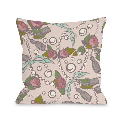 Quinn's Treasures - Rosy Peach Mint Pillow
