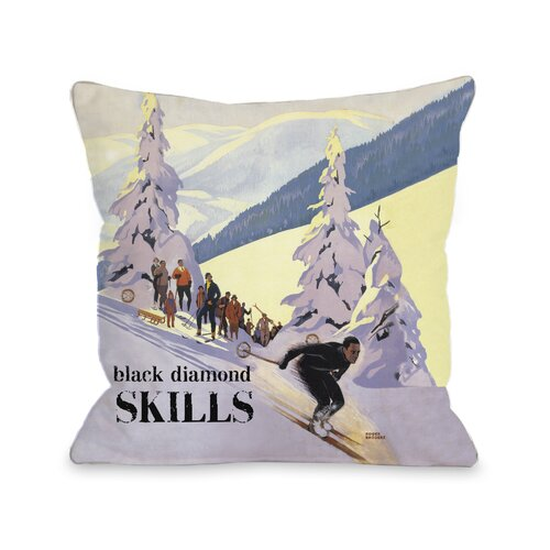 Diamond Skills Vintage Ski Pillow