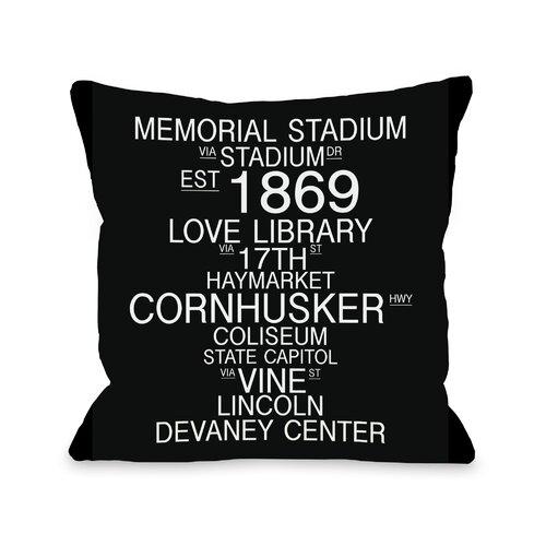 Lincoln Nebraska Landmarks Pillow